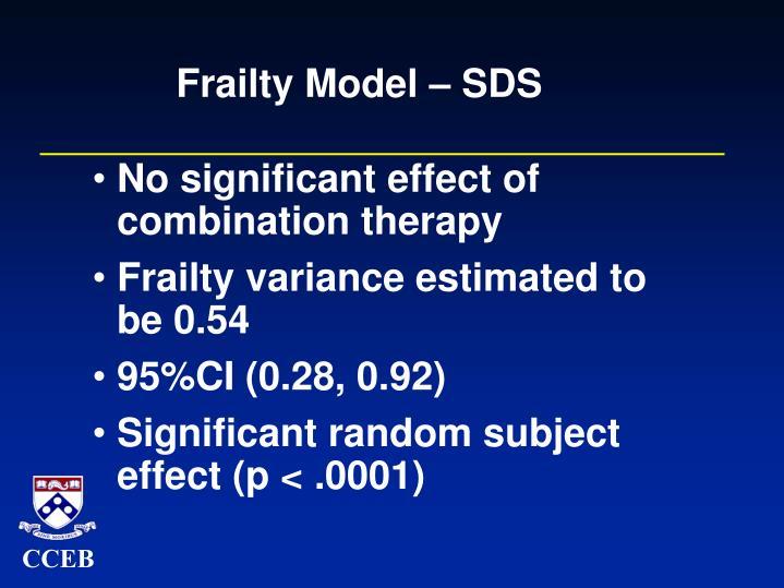 Frailty Model – SDS