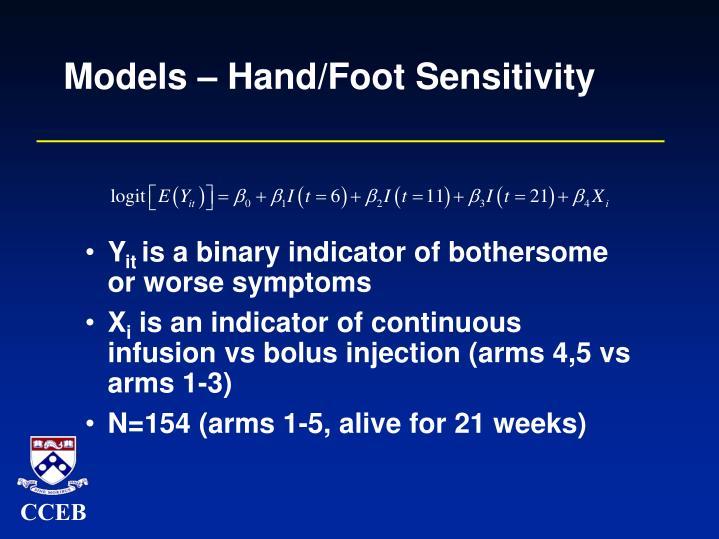 Models – Hand/Foot Sensitivity