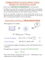 combinations of solutions solid bodies in a potential flow
