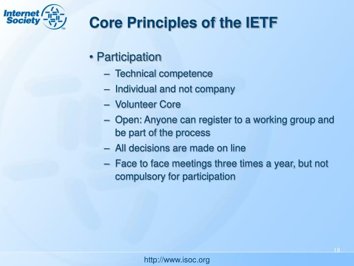Core Principles of the IETF