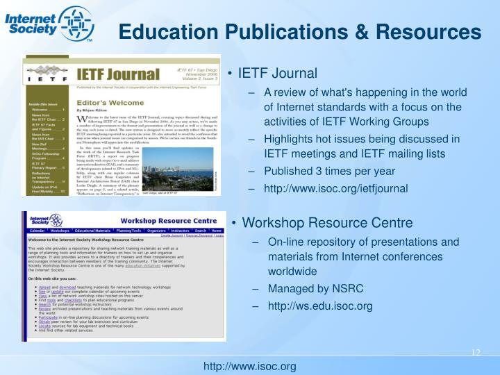 Education Publications & Resources