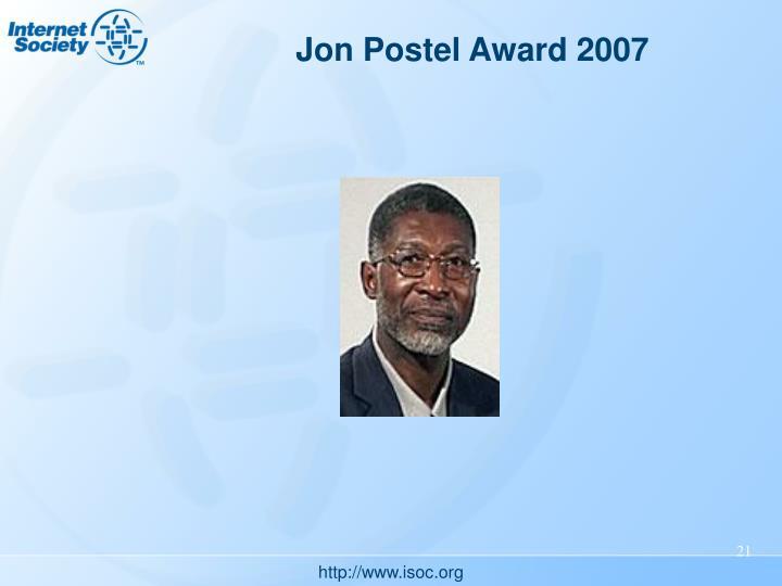 Jon Postel Award 2007
