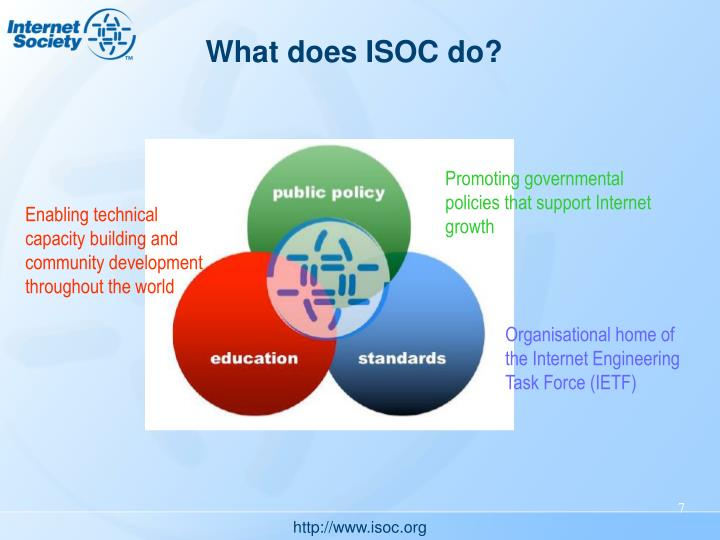 What does ISOC do?
