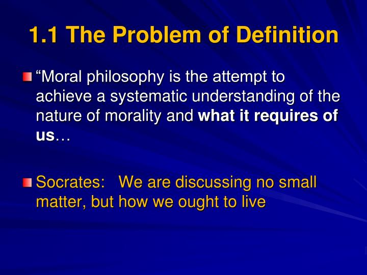 1.1 The Problem of Definition
