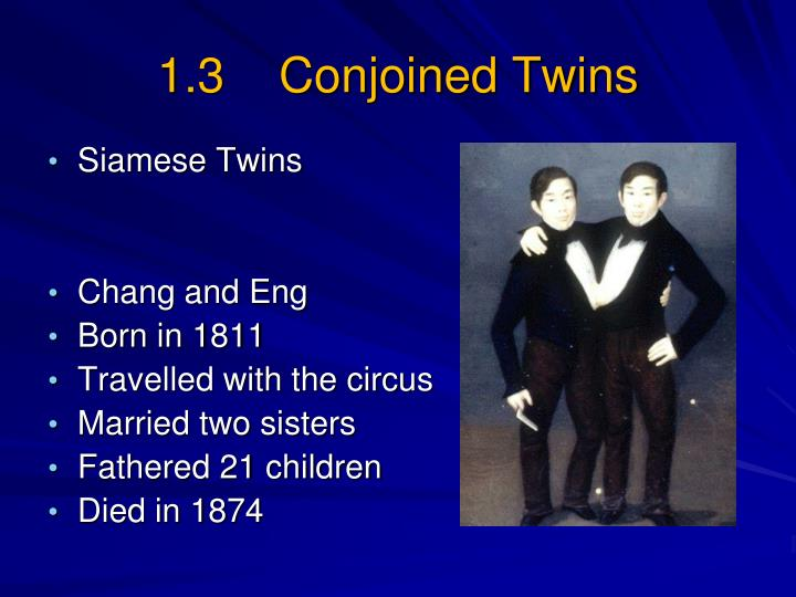 1.3    Conjoined Twins