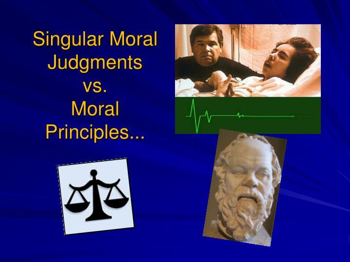 Singular Moral Judgments
