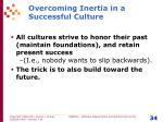 overcoming inertia in a successful culture