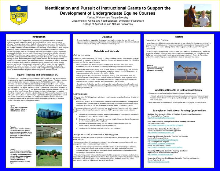 Identification and Pursuit of Instructional Grants to Support the Development of Undergraduate Equin...