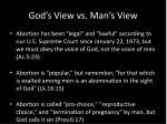 god s view vs man s view1
