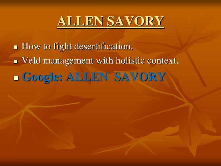 ALLEN SAVORY
