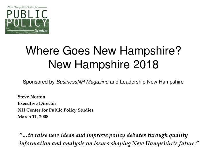 where goes new hampshire new hampshire 2018 n.