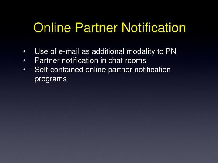 Online Partner Notification