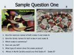 sample question one
