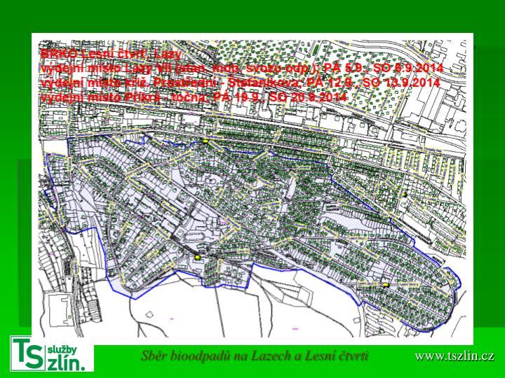 Sběr bioodpadů na Lazech a Lesní čtvrti