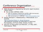 conference organization current