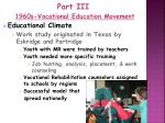 part iii 1960s vocational education movement1
