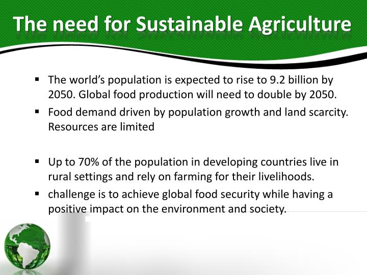Ppt moving towards sustainable agriculture powerpoint presentation the need for sustainable agriculture toneelgroepblik Gallery