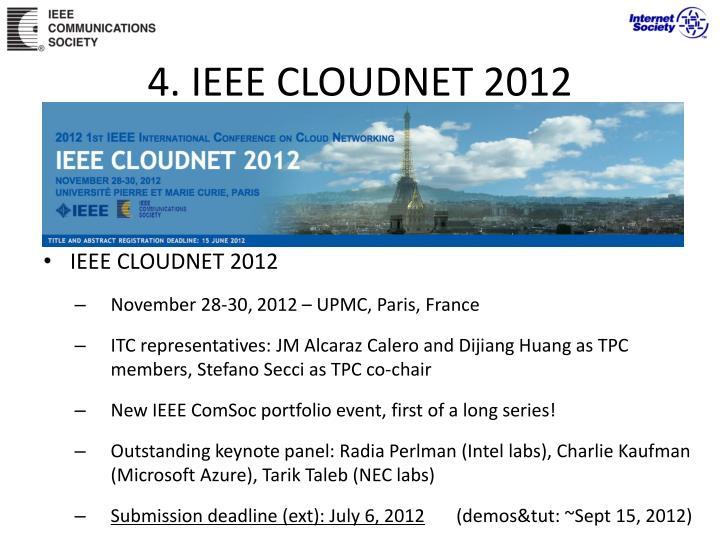 4. IEEE CLOUDNET 2012