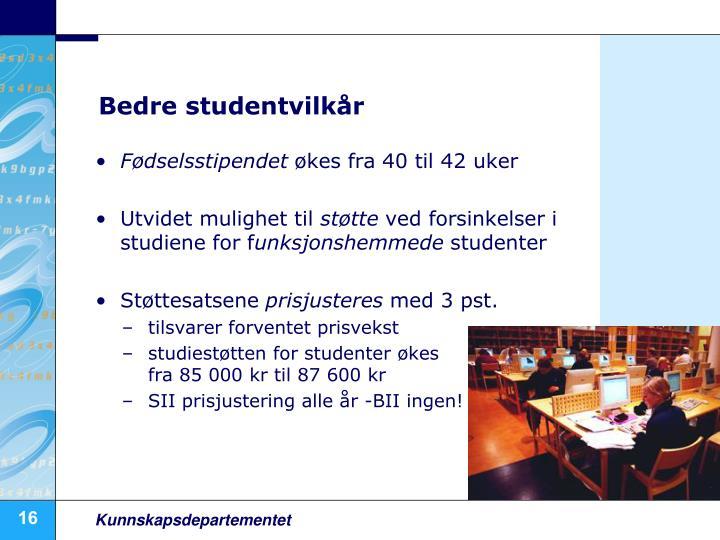 Bedre studentvilkår