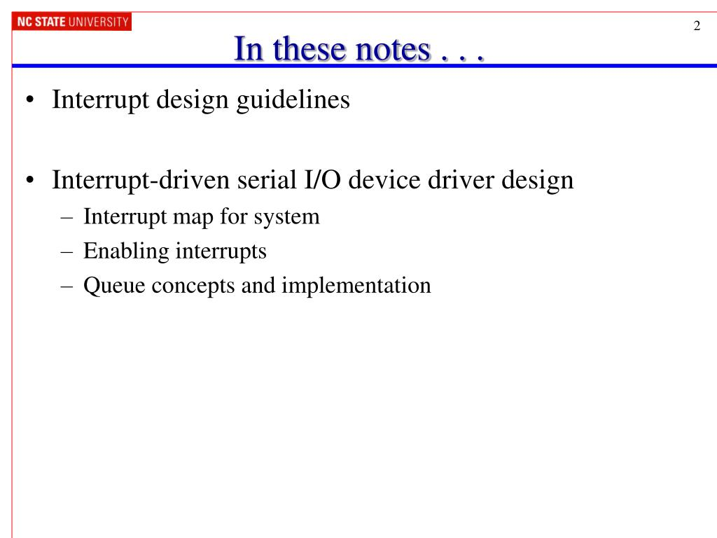 PPT - Interrupt-Driven Serial Communication PowerPoint