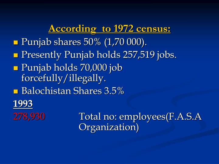 According  to 1972 census:
