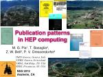 publication patterns in hep computing