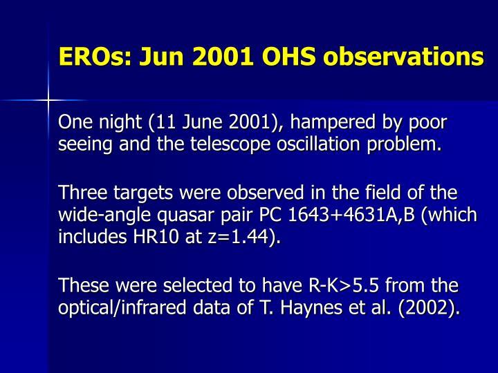 EROs: Jun 2001 OHS observations