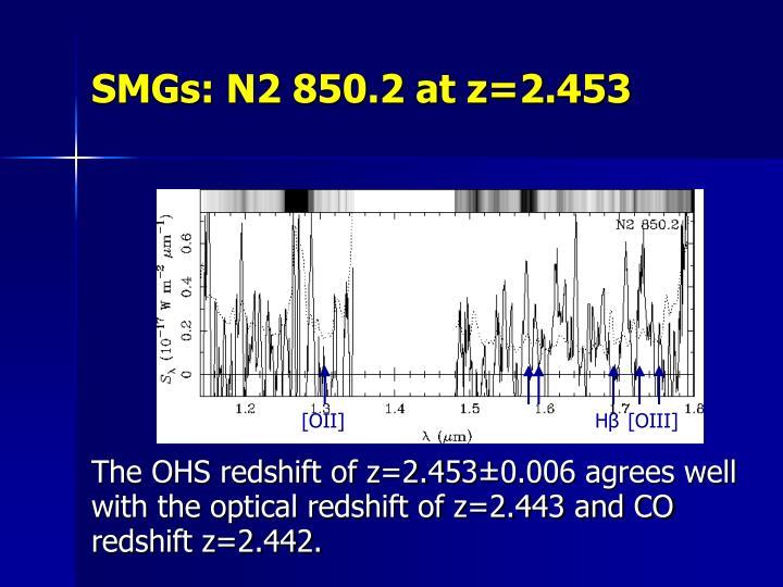 SMGs: N2 850.2 at z=2.453