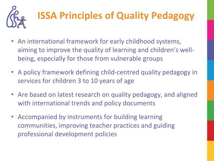 Issa principles of quality pedagogy
