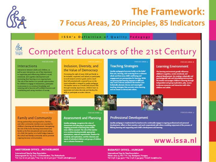 The framework 7 focus areas 20 principles 85 indicators