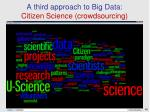 a third approach to big data citizen science crowdsourcing