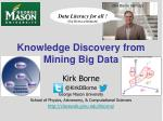 knowledge discovery from mining big data