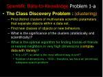 scientific data to knowledge problem 1 a