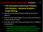 scientific data to knowledge problem 123 4