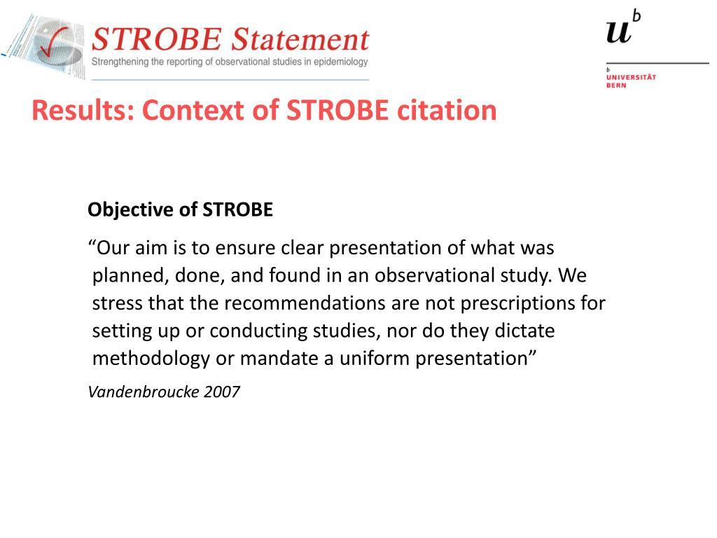 PPT - STROBE Citation Analysis PowerPoint Presentation - ID:5174429