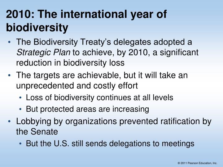 2010: The international year of biodiversity