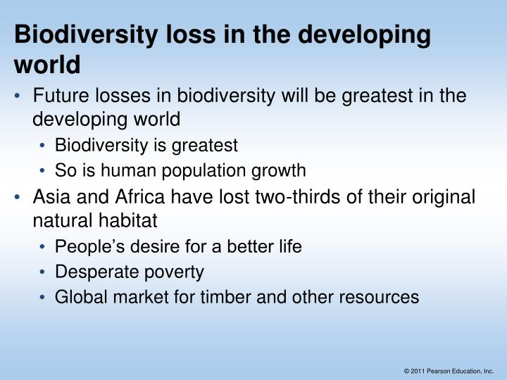 Biodiversity loss in the developing world