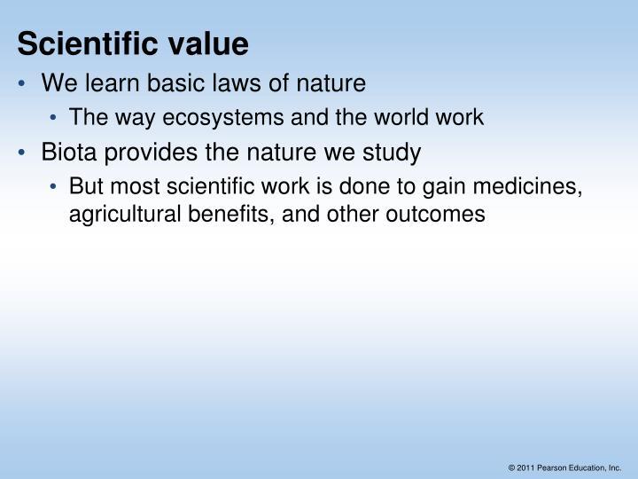 Scientific value