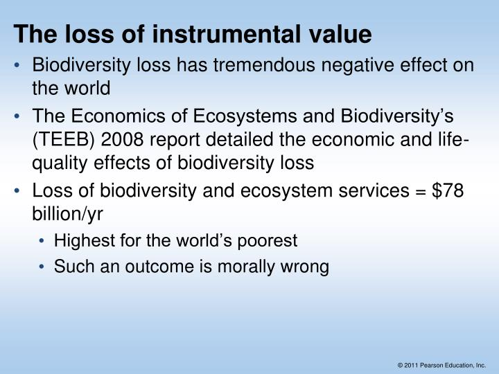 The loss of instrumental value