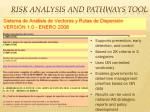 risk analysis and pathways tool