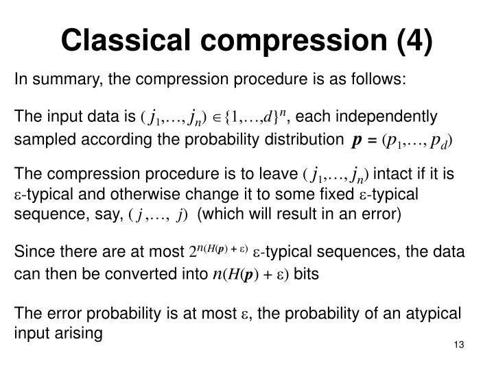 Classical compression (4)