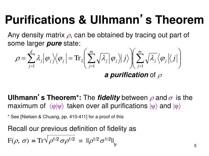 Purifications & Ulhmann