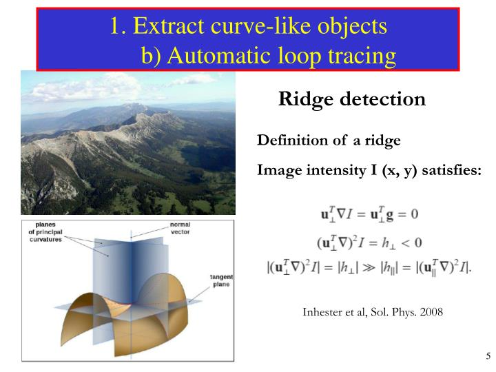 1. Extract curve-like objects