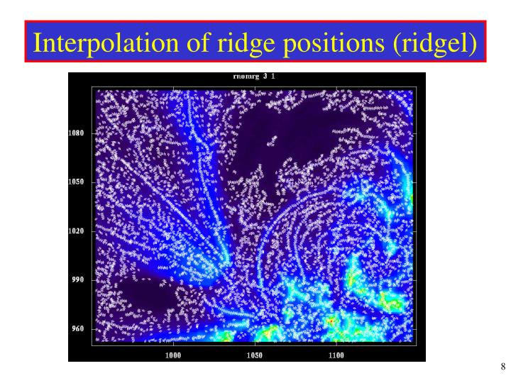 Interpolation of ridge positions (ridgel)
