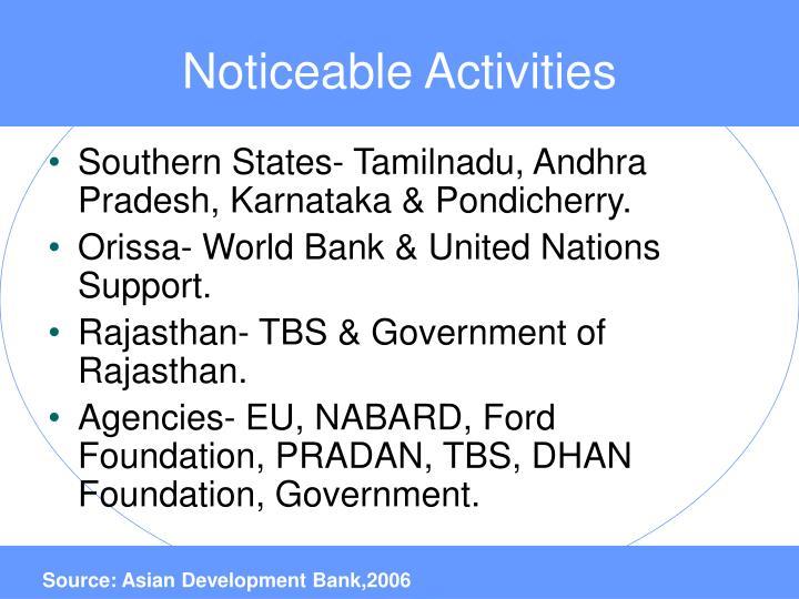 Noticeable Activities