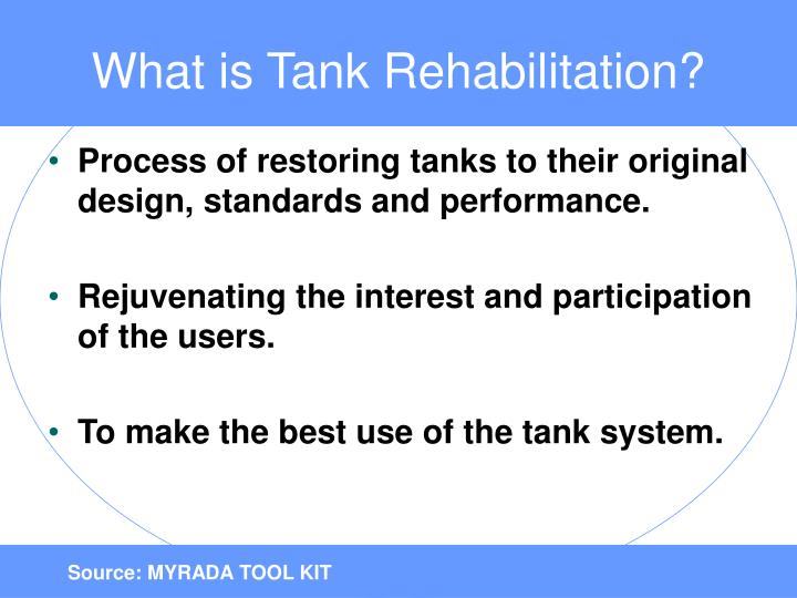 What is Tank Rehabilitation?