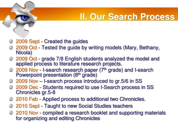 II. Our Search Process