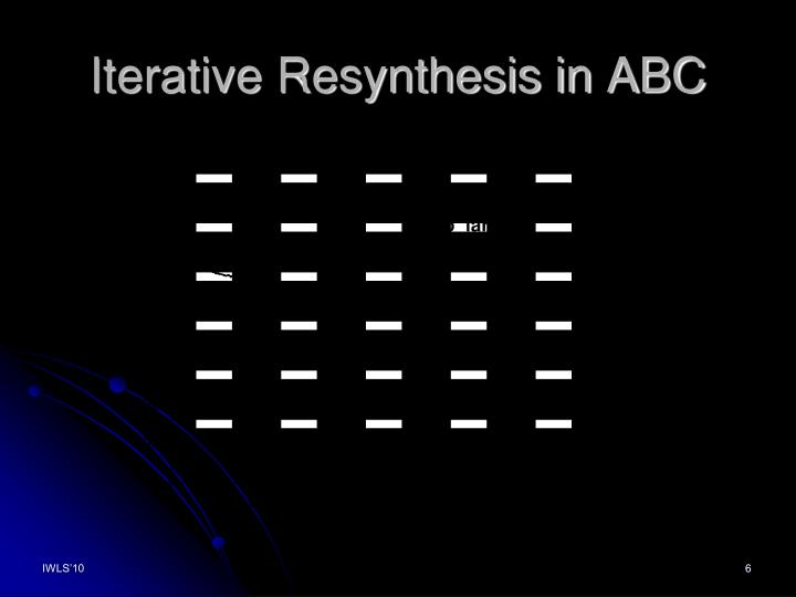 Iterative Resynthesis in ABC