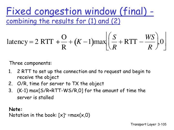 Fixed congestion window (final) -