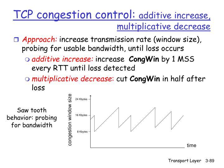 TCP congestion control: